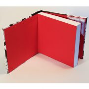 red endpapers of square puffin book
