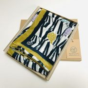 Gift Box containing folded botanical unique scarf by Aly Storey