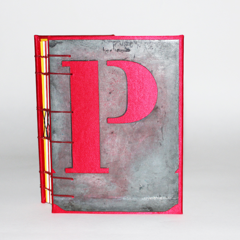 P and Q notebook front