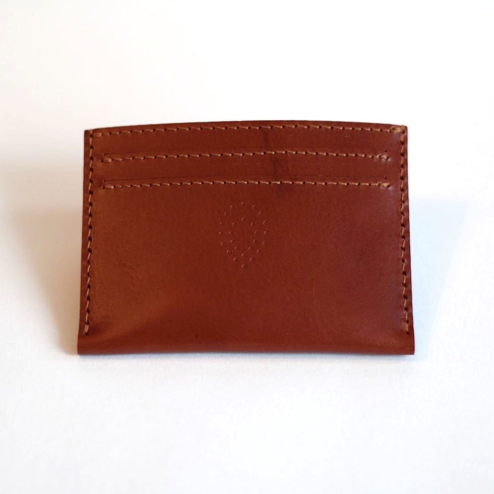 Tan card holder front