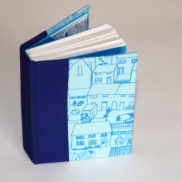 blue houses mini notebook