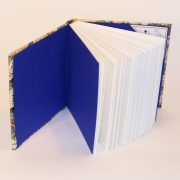 square cranes book has blue endpapers