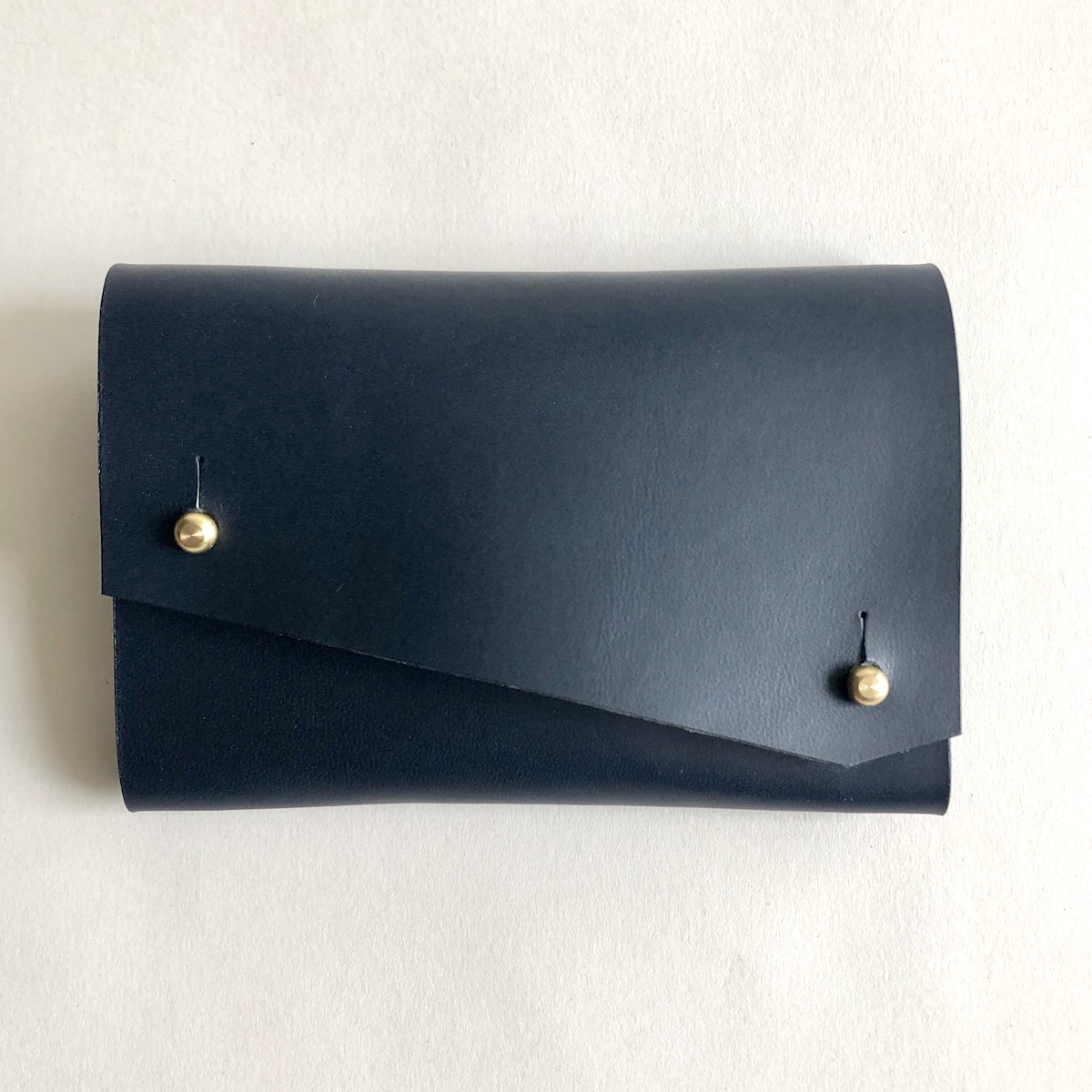 Navy Origami purse front