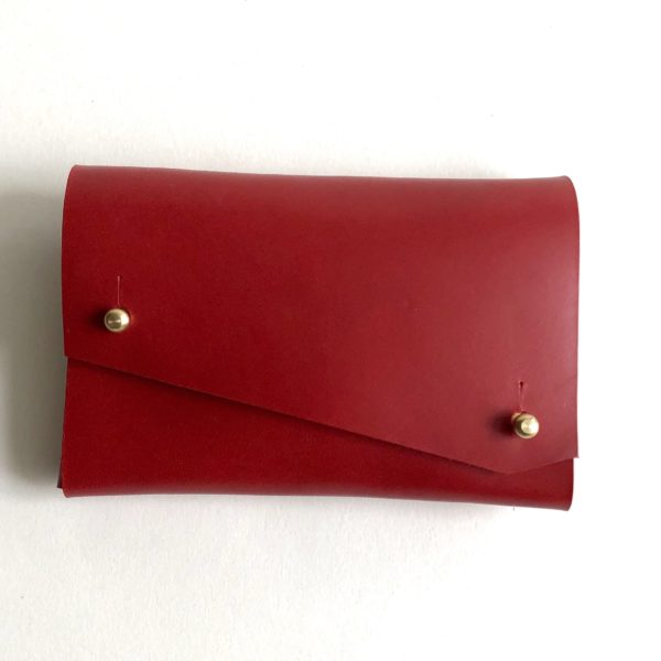 Red Origami purse front