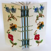 vintage fabric notebook