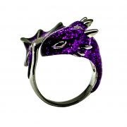 Black Amethyst Dragon Ring