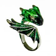 Black Emerald Dragon Ring