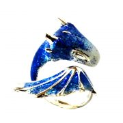 blue dragon ring, dragon ring, dragon jewellery