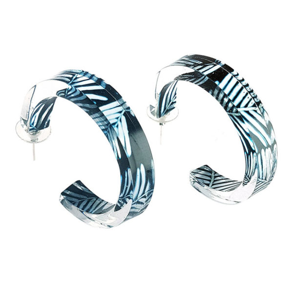 'Black-Blue-Conifer-50mm-Hoop-Earrings'-www