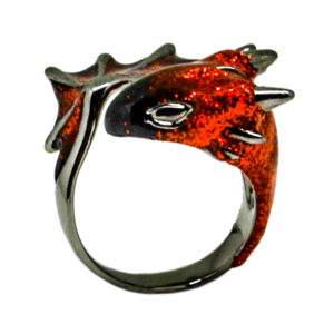 Black Garnet Dragon Ring