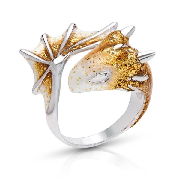 Moonlit Dragon Ring