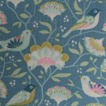 birds and flowers fabric