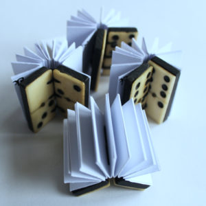 group of mini domino books