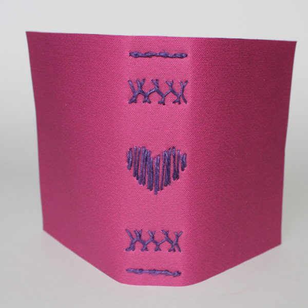 Softcover notebook with heart