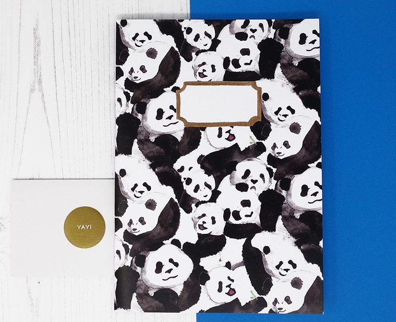 Pandamonium Print A5 Notebook by Also the Bison