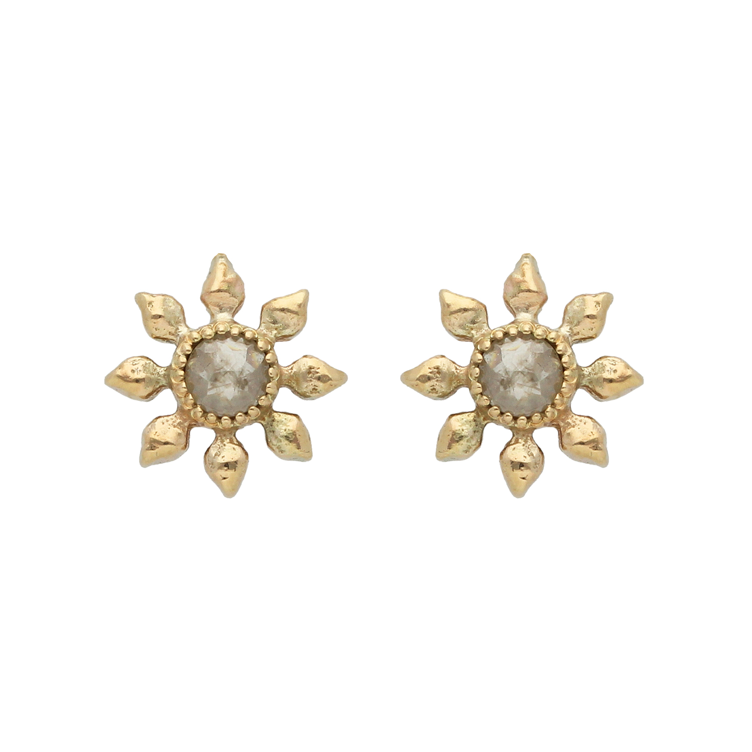 Natalie Perry Jewellery, Diamond Flower Earrings