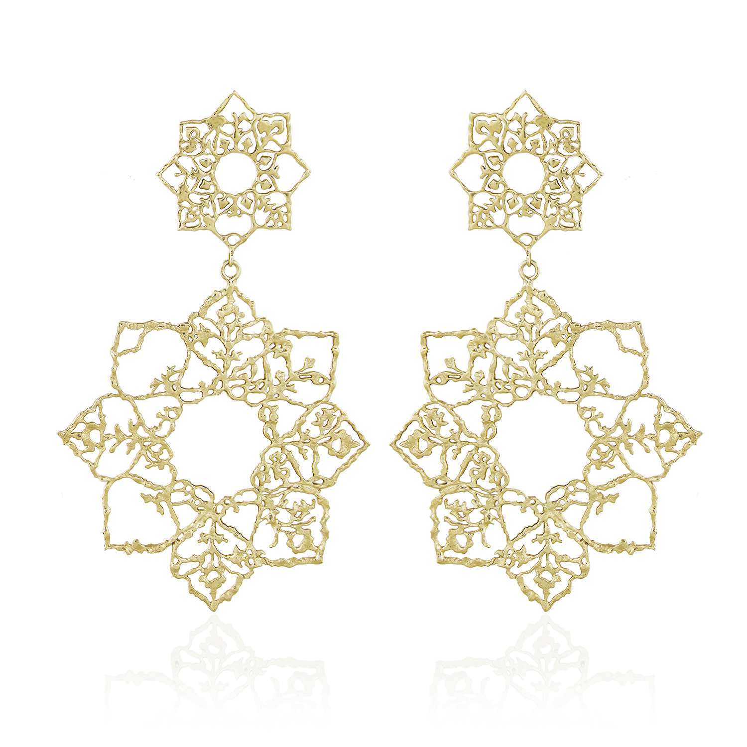 Natalie Perry Jewellery, Double Mandala Earrings