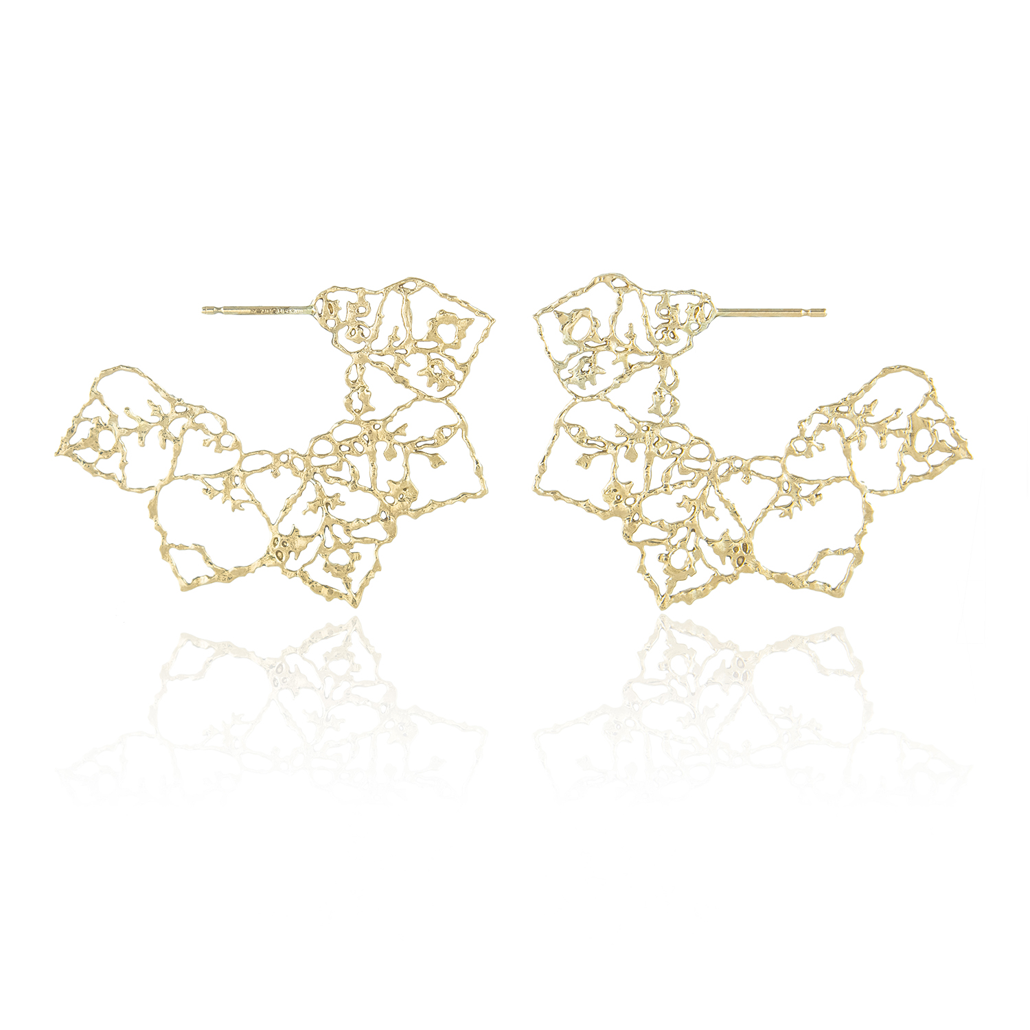 Natalie Perry, Mandala Hoops in 9ct Fairtrade Gold