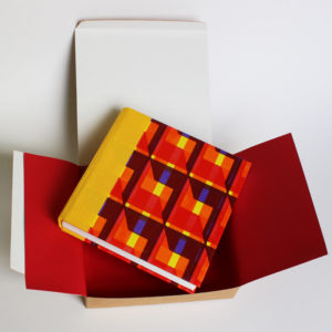 square sketch book and box