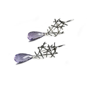 Free Spirit lace earrings with amethyst