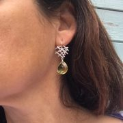 Free Spirit earrings lemon quartz on model