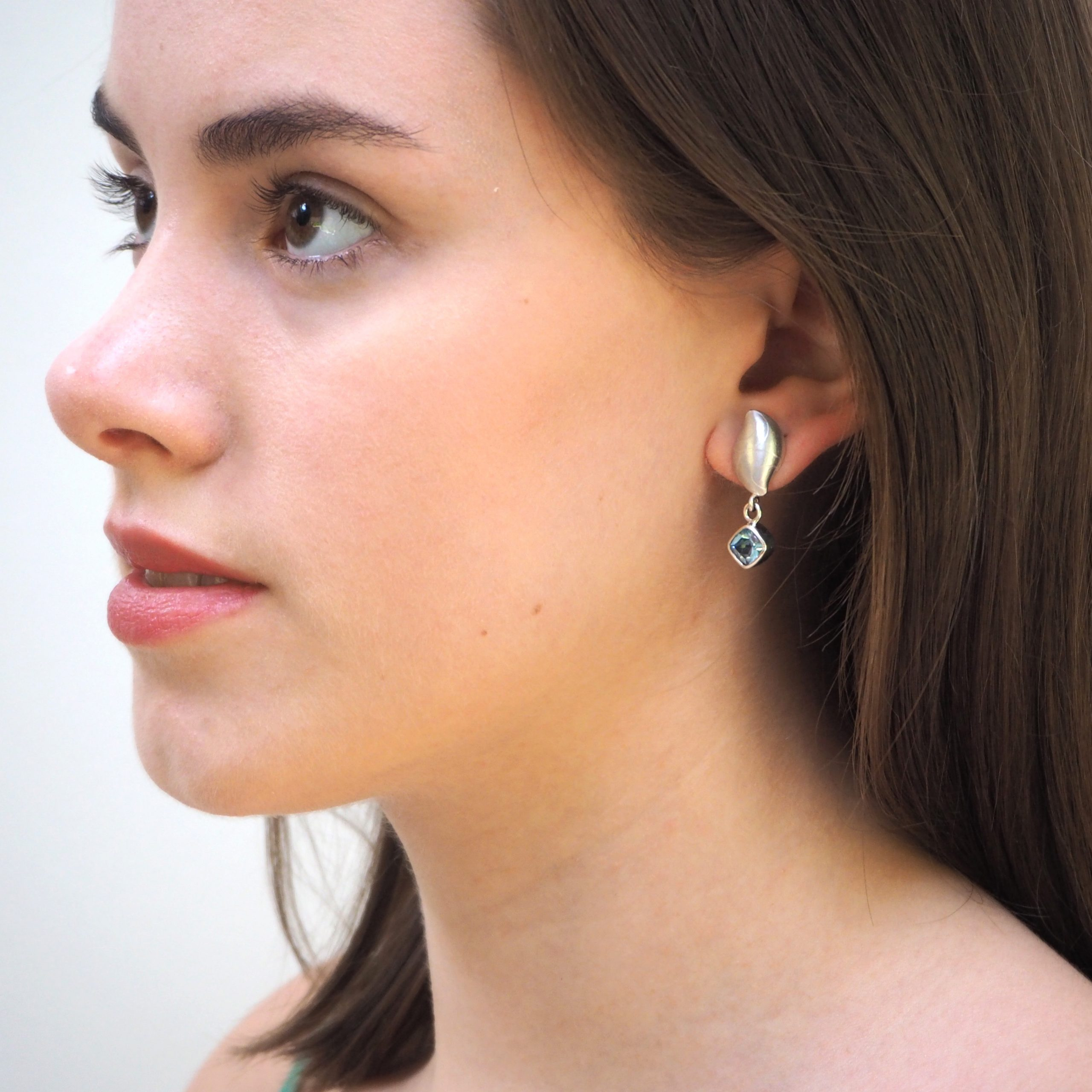 Topaz Pebble Earrings