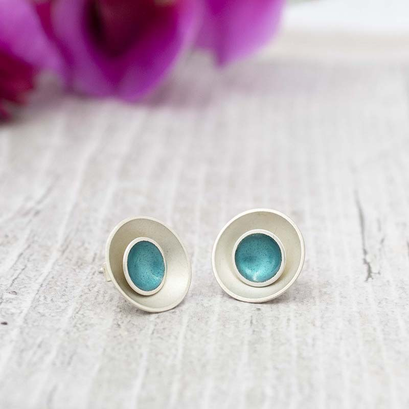 Halo Two-in-One Studs, Teal, Large