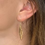 everyday Solid drop 9ct yellow gold earrings.