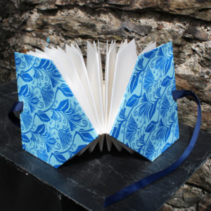 map fold book standing open