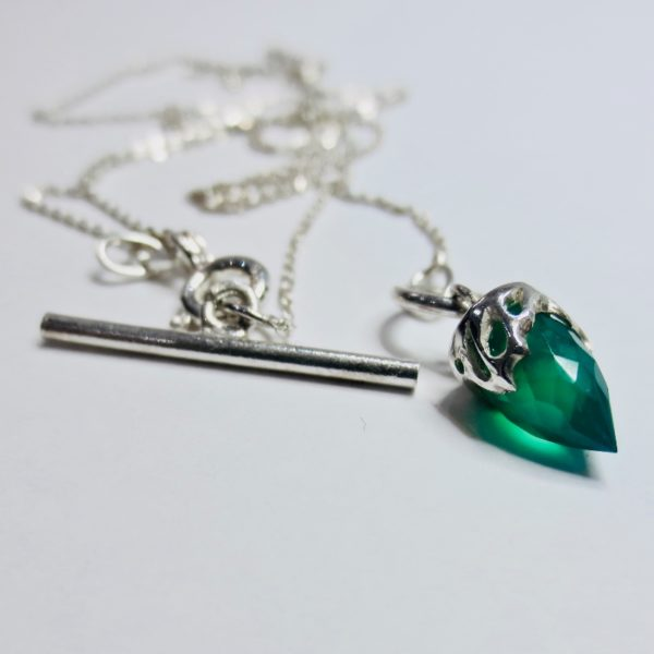 green agate necklace.