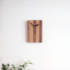 mixed wood wall clock