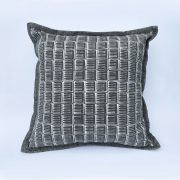 Original textile design in dark grey 'Inky'