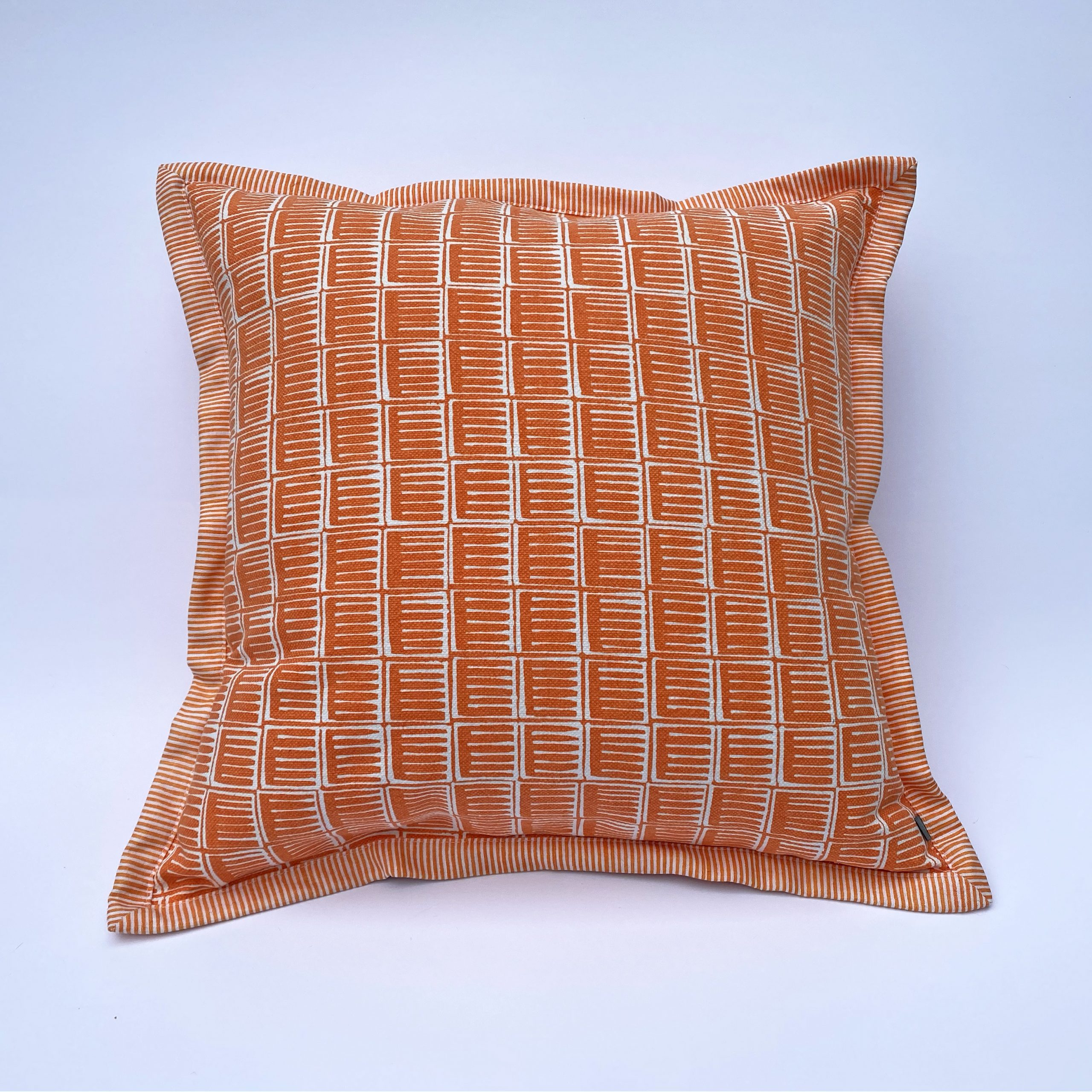 Inky Cushion in Orange