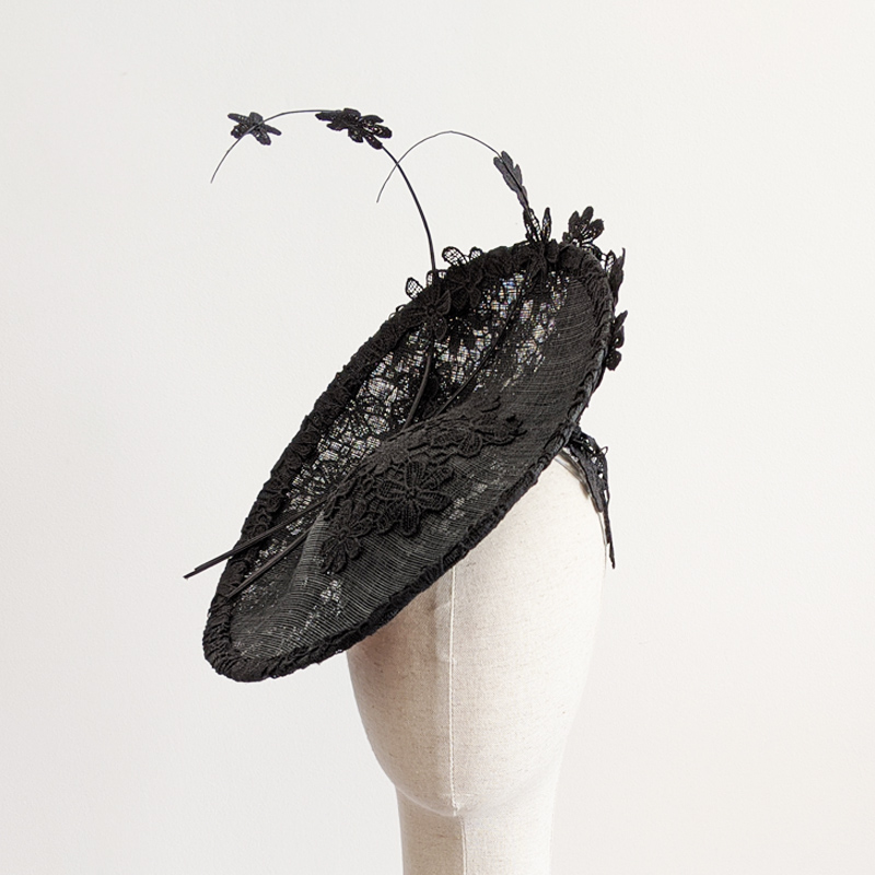 Lace headpiece front view