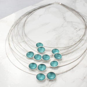 Enamel Multi-Strand Necklace