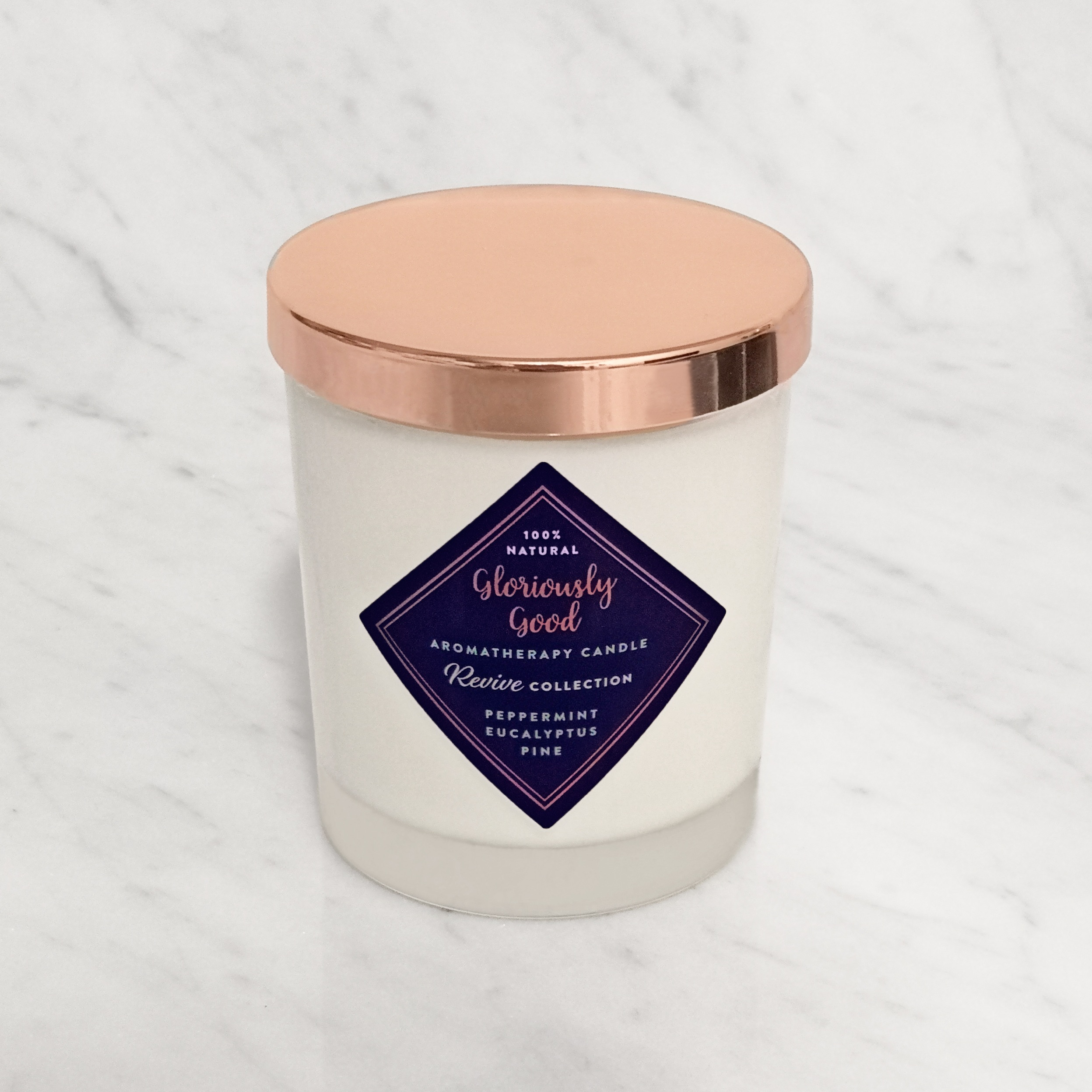 Natural Peppermint, Eucalyptus & Pine Essential Oil Aromatherapy Candle