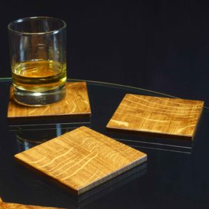Drinks Coaster in Brown Oak
