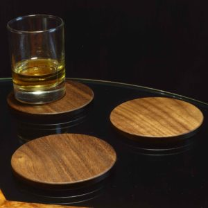 Drinks Coaster in Black Walnut