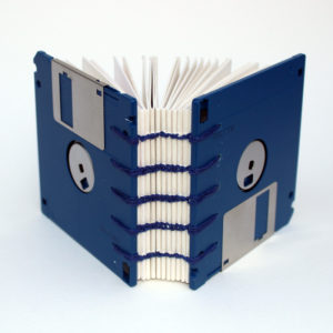 floppy disc book spine