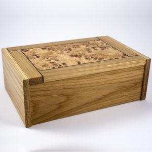 Oak and poplar burr box