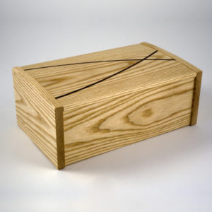 Ash 'winding paths' jewellery box