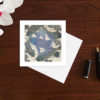 set of three colourful fish art cards