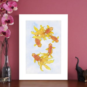 fancy fish giclee print
