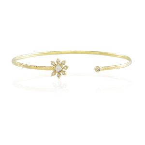 Natalie Perry Jewellery, Diamond Flower Bangle