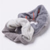 Cashmere hair scrunchie grey