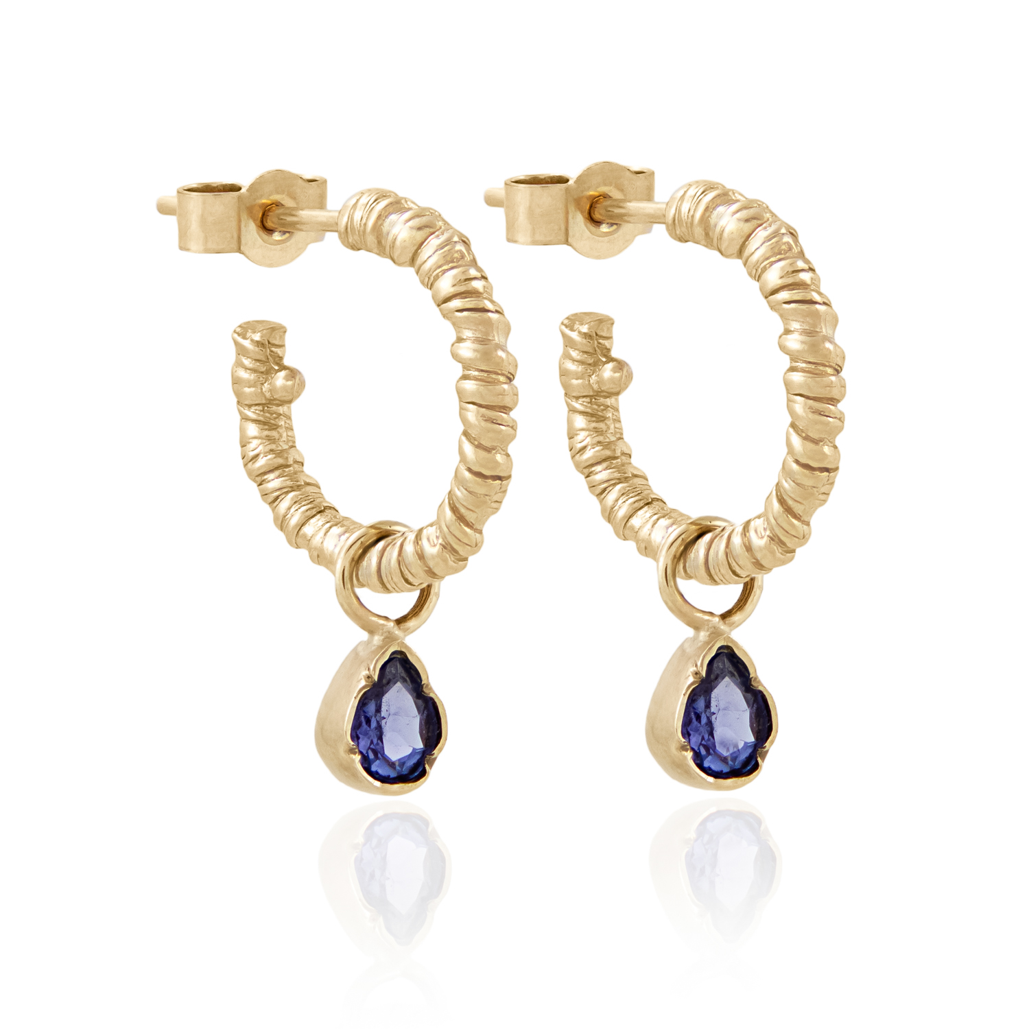 Natalie-Perry-Jewellery-Organic-Twisted-Charm-Hoops-with-tanzanite-charms-1500-sh
