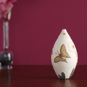 butterfly ceramic vessel