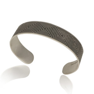 Silver Optical Cuff oxidised