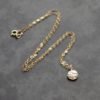 Gold Linear Disc Necklace