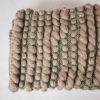 Cassandra Sabo's handwoven blue-faced leicester wool 'Burrows' throw from her Forest Collection
